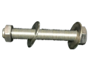 "Bolt Assembly : 3/8""-16 X 11/2"" Hexhead, 1 Nut, 2 Washers, 18-8 SS"