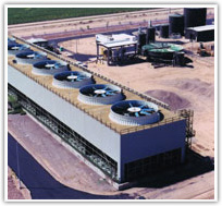 Counterflow Fiberglass Cooling Towers